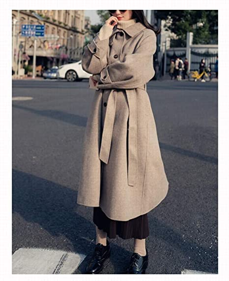 SED Ropa de Mujer: Abrigo de Lana Retro, Chaqueta de Abrigo Larga con Corbata