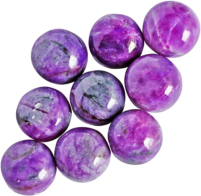 AG-3455 3.4 Gm Designer Purple Gel Sugilite Gemstone South Africa Stone Fancy Pendant Cabochon Cab Natural Sugilite For Making Jewelry