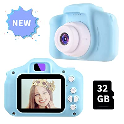 OMWay Gifts for Boys Age 3 4 5 6 7 8, 2020 Christmas Easter Kids Digital Camera,Toys for Boys 4 5 6 7 8 Year Old,12MP HD Camcorders,Blue(32GB SD Card Included).: Camera & Photo