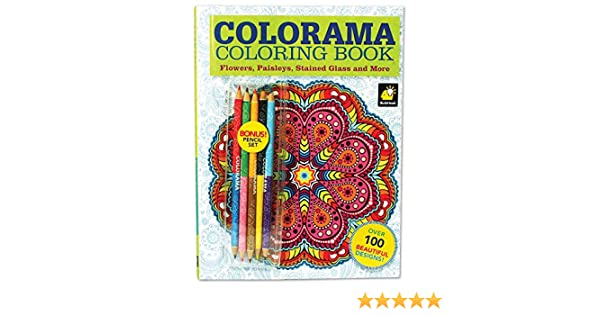 Colorama Coloring Book For Adults With 12 Colored Pencils Create Something Wonderful Relax Drawing Sketch Pads