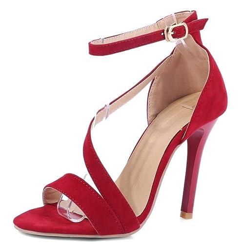 Mujer Zapatos34euRed Aguja Tacon Sandalias De Zanpa Fiesta CdrxoBe