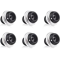 EZBASICS Wine Saver Vacuum Stoppers Set of 6, Black