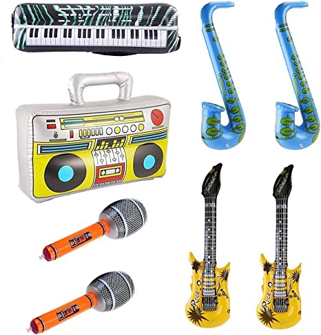 Tomaibaby 8 Piezas Inflables Rock Star Toy Set Saxofón ...
