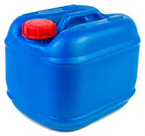 Hudson Exchange 2.5 Gallon (10 Liter) Handled Container with Cap, HDPE, Blue