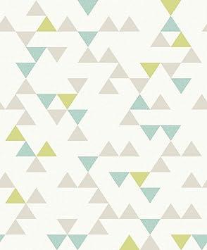 Un3105 Unplugged Geometrique Triangles Papier Peint Galerie Gris
