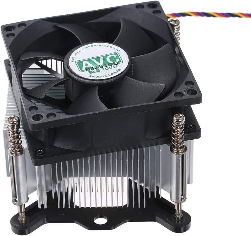 Docooler El Enfriador de la CPU Heatpipe ventila los Ventiladores silenciosos del disipador de Calor Compatible con Intel 1155 1150 1151 PWM Termostato
