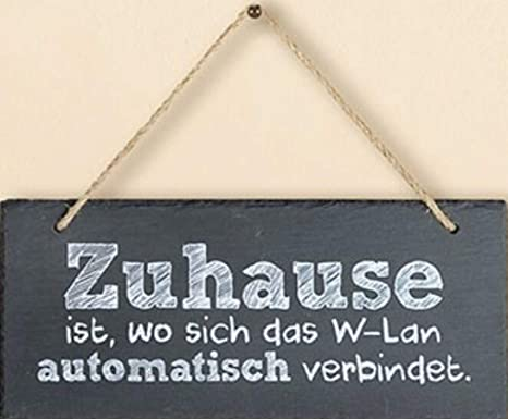 G.H. Cartel de Pizarra Vintage, Modelo ZUHAUSE es Donde esté ...