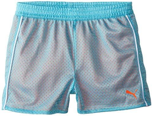 PUMA Big Girls' Active Double Mesh Short, Faster Blue, 8-10 (Medium) ()
