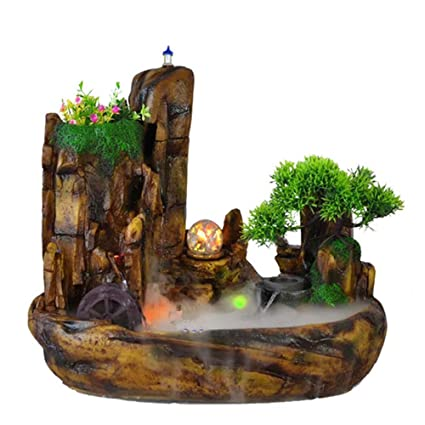 Amazon Com Yameijia Home Decor Table Fountain Polyresin Water Flow