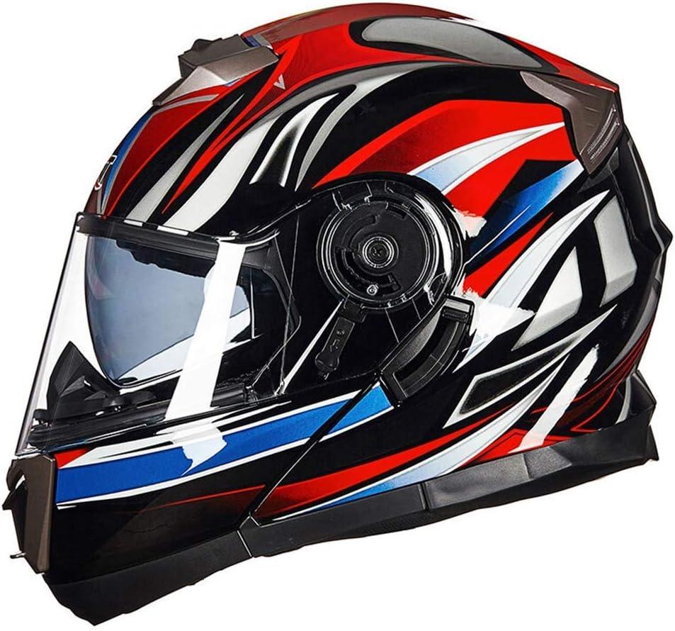 Casco de Motocicleta Totalmente Cubierto est/ándar Dot con Llamada Bluetooth//Reproductor de m/úsica//micr/ófono//funci/ón de tel/éfono Conectado. Kuan-helmet Casco Bluetooth multifunci/ón