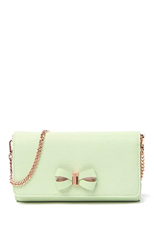 Ted Baker Melisia Bow Matinee Wallet On A Chain (Olive) by Ted Baker