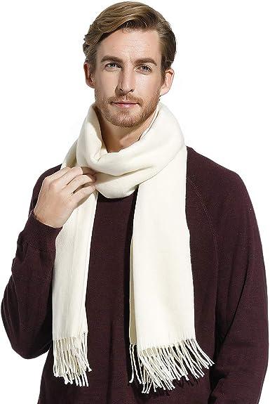 10 Colors Mens Winter Cashmere Scarf Long Plain Warm Soft Scarves for Men  Cold Weather Scarves Men