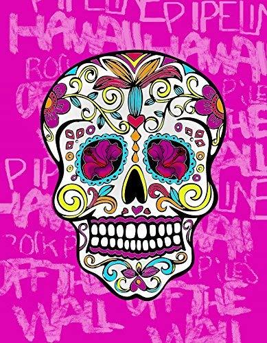 Regalitostv Day of The Dead* Toalla Playa Grande 95 X 175 CM Tacto Terciopelo 100