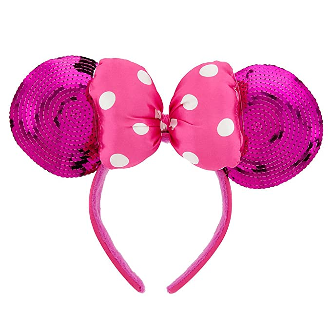 Amazon.com  Disney Minnie Mouse Ears Headband For Girls - Pink Sequin   Clothing af8163542dbe