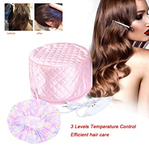 110V Hair Care Hat,Hair SPA Cap,Hair Care Steamer Cap,Thermal Hair Cap,Waterproof Home Hair Thermal Care Electric Hair Treatment Beauty Steamer Perfect for Family Personal Care