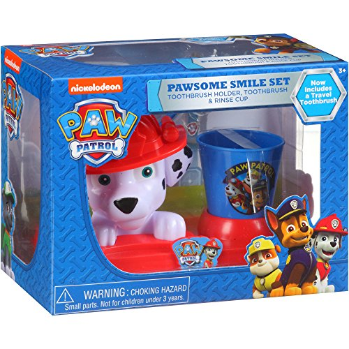 Marshall Kids Toothbrush Holder Toothbrush and Cup Bath Room by Spin Master PAW Productions Inc.