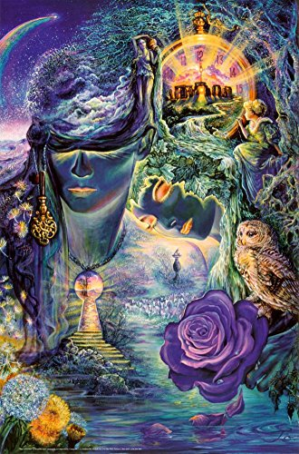 Key To Eternity Poster by Josephine Wall 24 x 36in with Poster Hanger