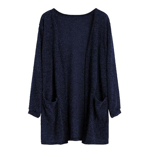 Internet Manga larga mujer otoño Tops blusa larga floja de la rebeca Chaqueta de abrigo
