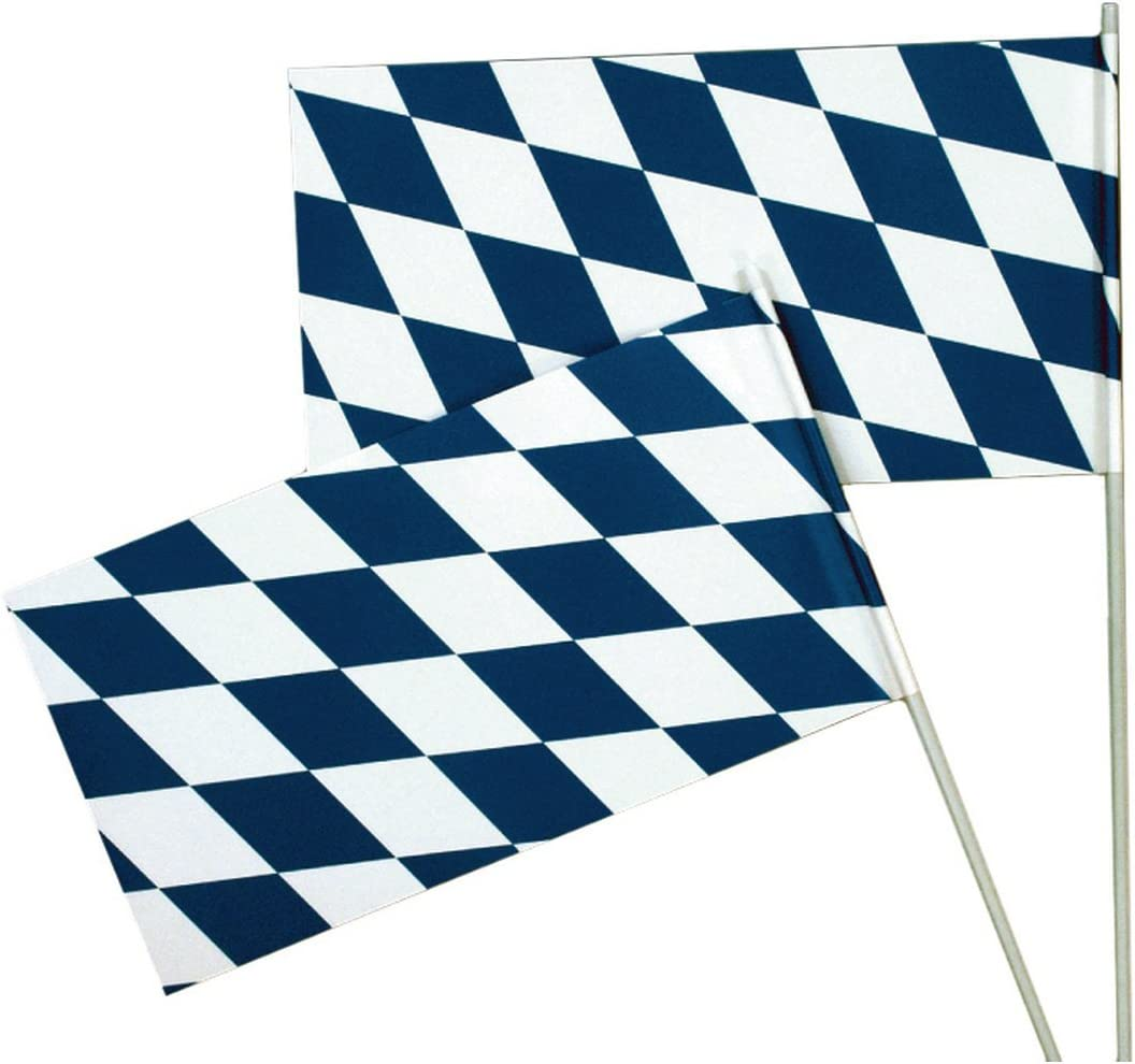 NET TOYS Oktoberfest Fahne Bayern Flagge Wiesn Bayernfahne Bierzelt Bayernflagge Party Deko F/ähnchen Mottoparty Raumdeko Bayernraute Partydeko Bayrisch