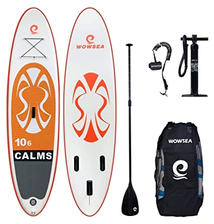 WOWSEA Tabla Hinchable Paddle Surf, 2018 Paddle Board Hinchable con tamaño 320 * 81 *