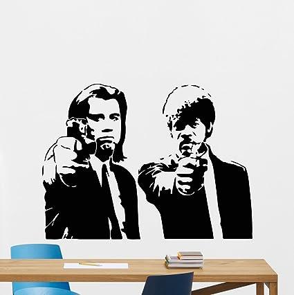 Pulp Fiction Wall Decal Quentin Tarantino Movie Vinyl Sticker John ...