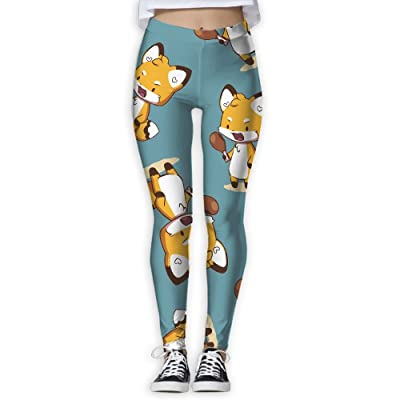 0837cd74ed52b Fox-eats-Chicken-Leg Women 3D Printed Leggings Activewear Lightweight  Legging Yoga Pants