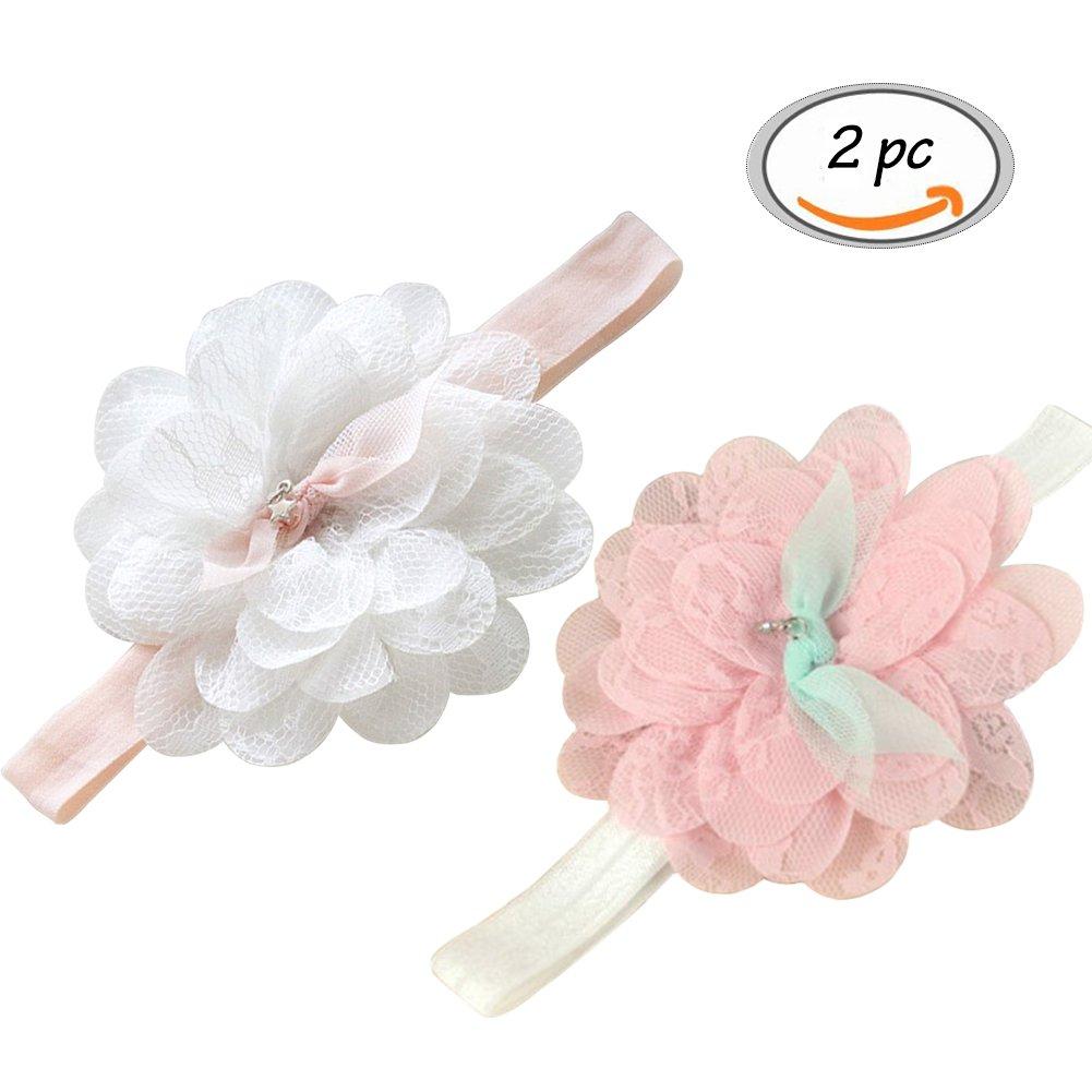 Baby Girl's Hairbands,Toddler Flower Elastic Hairband Headbands Photography Baby Girl's Hairbands Cheriollstore