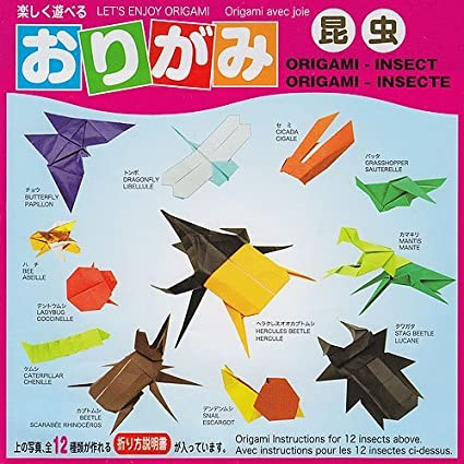 Amazon Origami Insects Kit With Paper And Booklet