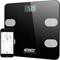 Body Fat Scale Bathroom Digital Smart Bluetooth Weight Scales with Wireless APP Control for Body Fat, Body Weight, Muscle Mass, Water, BMI, BMR, Bone Mass and Visceral Fat