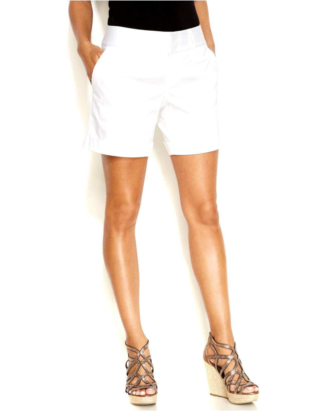 INC International Concepts Twill Cuff Shorts Sleek Tailored Fit Size 16 Petites