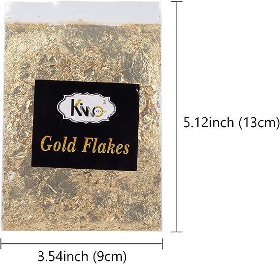Nikunty 5g Oro Argento doratura a Foglia Fiocchi Fiocchi Metallici Resina otturazioni Produzione di Gioielli