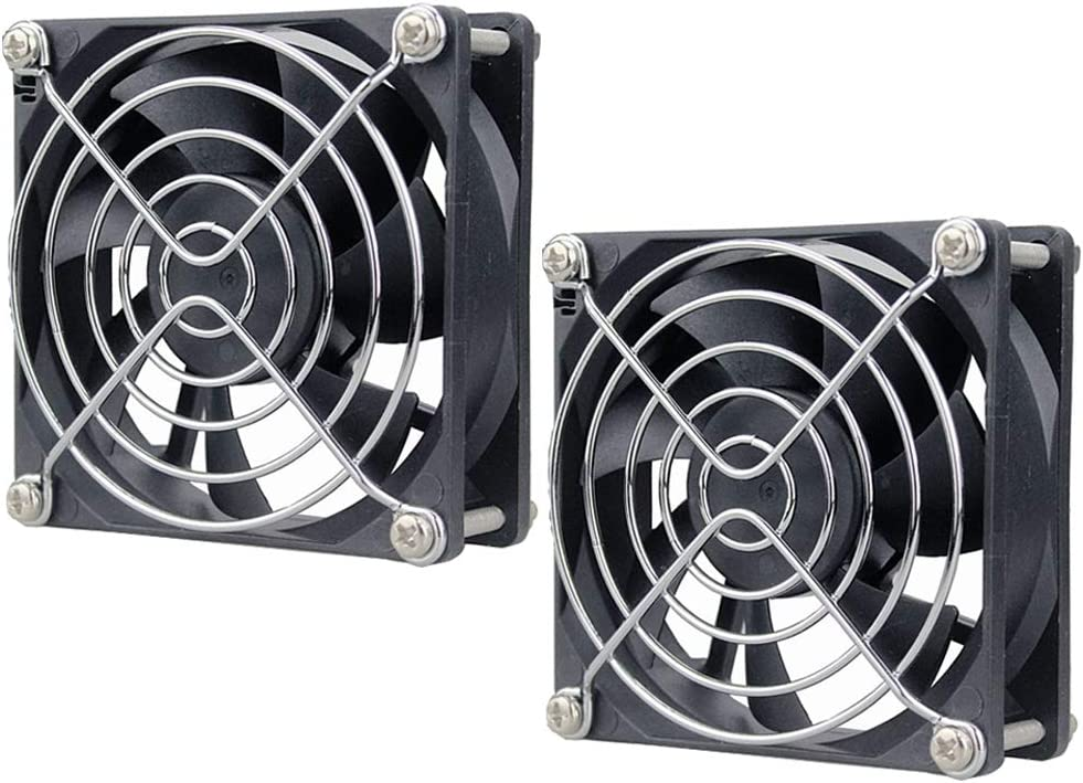 GDSTIME 2 Pack 80mm x 80mm x 25mm 12V DC Brushless Cooling Fan