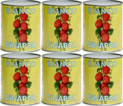(Pack of 6 ) Bianco DiNapoli California Peeled Organic Whole Tomatoes 28 oz Cans