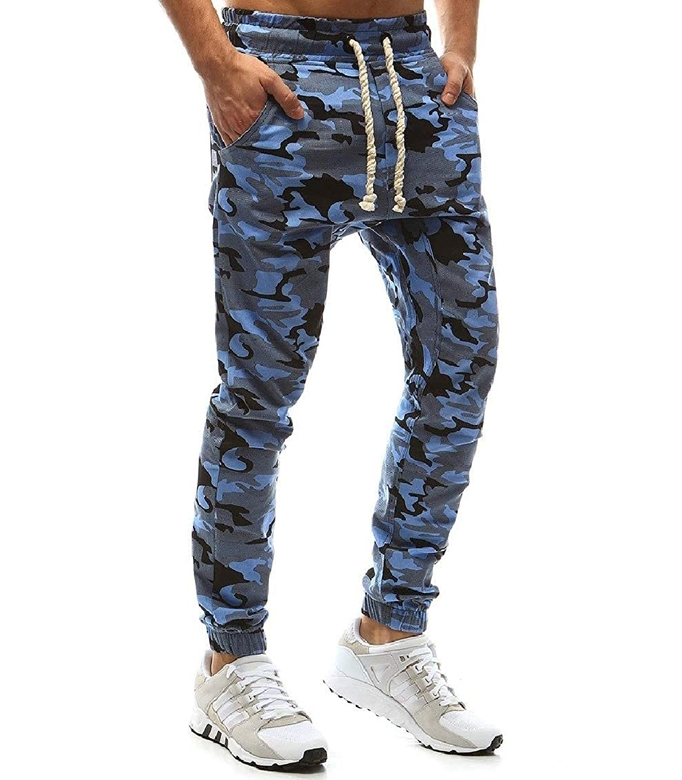 Coolred-Men Workout Plus Size Military Style Camouflage Work Pant