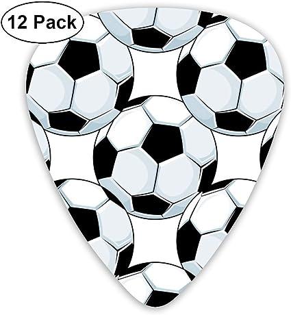 Balones de fútbol de fútbol Deportes 351 Forma de guitarra de celuloide clásica para guitarra eléctrica mandolina bajo 0.46 mm 0.73 mm 0.96 mm (12 unidades): Amazon.es: Instrumentos musicales