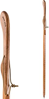 product image for Hiking Walking Trekking Stick - Handcrafted Wooden Walking & Hiking Stick - Made in The USA by Brazos - Layered Snow Stick - 52 inches