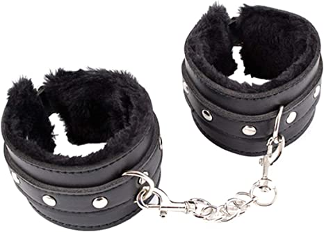 Buckled Leather Handcuffs Wrist Ankle Hand Cuffs Restraint Bondage Couple Toy