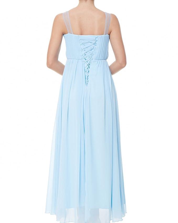 ZAFUL Elegante Vestidos Largos Fiestas Bodas Falda sin Mangas Para Mujer AZUL Claro: Amazon.es: Ropa y accesorios