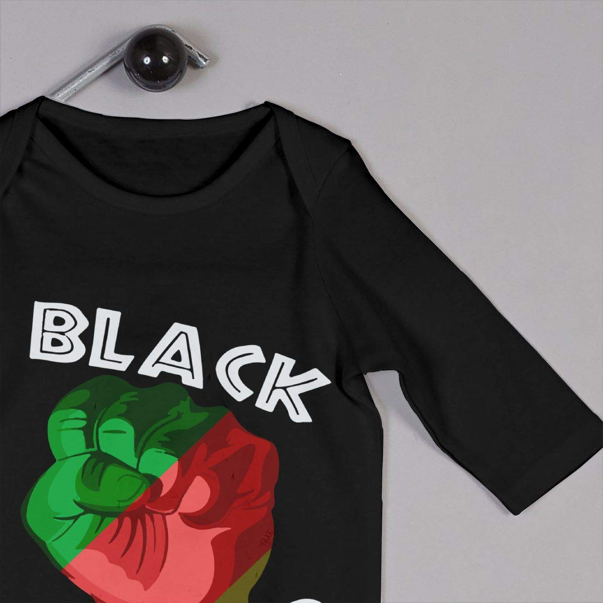 LBJQ8 Black Power Pride Infant Baby Boy Girl Long Sleeve Bodysuit Romper Jumpsuit