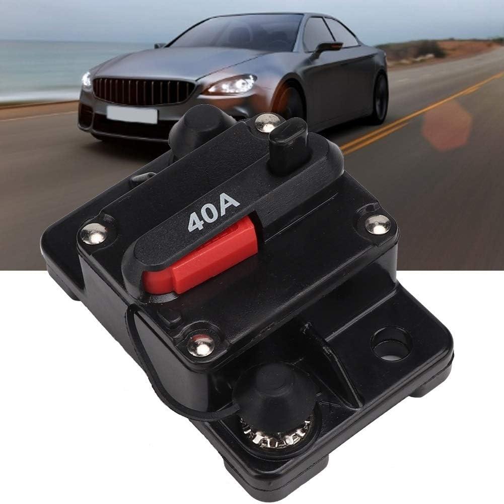 40A 60A Car Stereo Audio R/éinitialisable Circuit Inline Disjoncteur Fusible Auto-r/écup/ération 40A Heitune 12V 30A