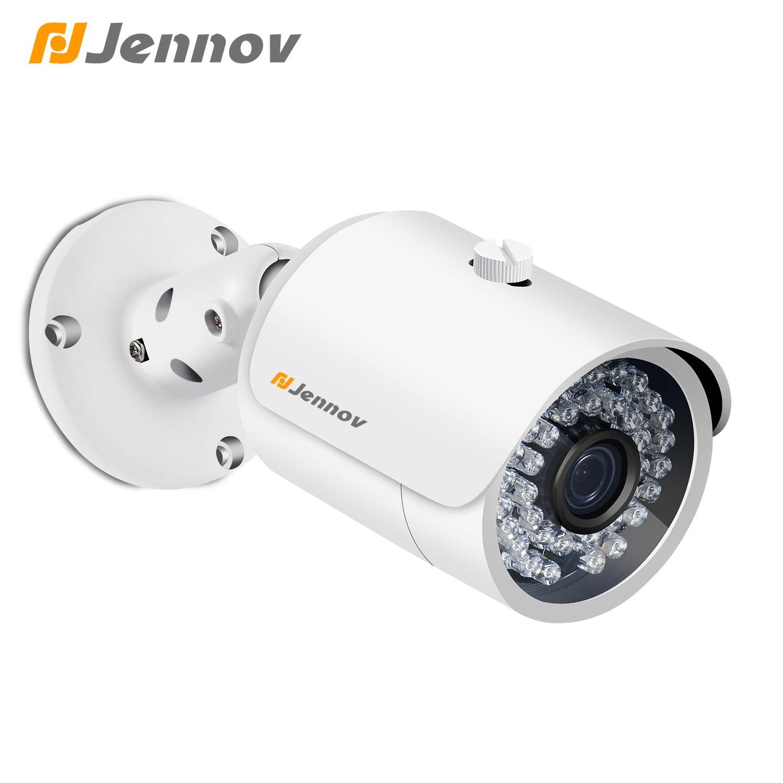 Jennov POE Security IP Camera Home Surveillance System Bullet Indoor Outdoor Network CCTV Cameras 1920 x1080 IR Night Vision Motion Detection