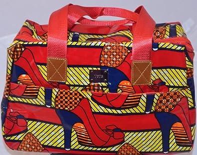49d57de777d3 African Print Bag  Heels Designer Oilcloth Ankara Day Bag Gym Bag Holdall   Amazon.co.uk  Shoes   Bags