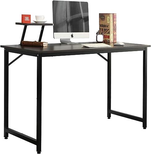 sogesfurniture Computer Desk with Shelf 39.4 inch Sturdy Office, Meeting,Training, Writing,Workstation Desk Gaming Desk,BHUS-WK-JK100-BK