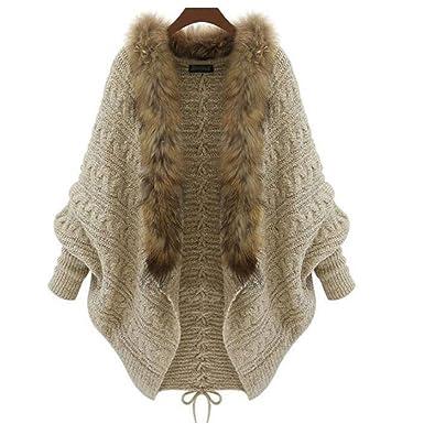 Amazon.com: Chaqueta de invierno cálida y con pelo de punto ...