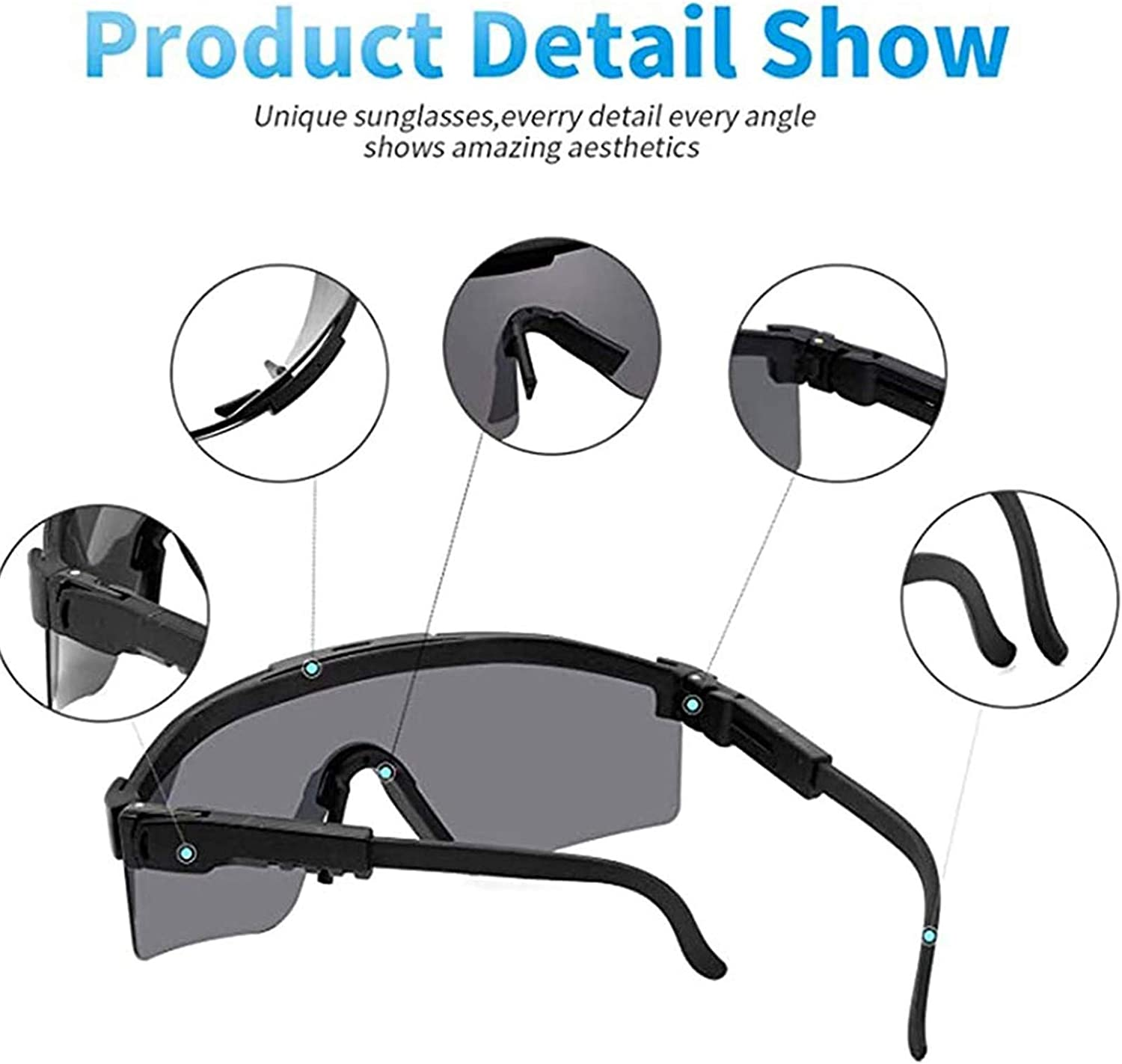 Outdoor Windproof Eyewear UV Protection for Women and Men Outdoor Sunglasses Cycling Glasses