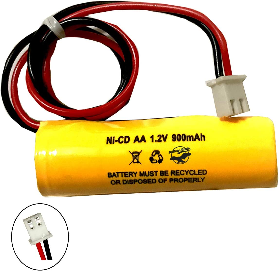 XML Battery ELB-B001 Lithonia ELBB001 Unitech AA900MAH 3.6v 900mAh Ni-CD Rechargeable Battery Pack Replacement for Exit Sign Emergency Light 5 Pack