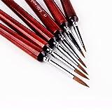 Professional Sable Hair Detail Paint Brush Set - 6
