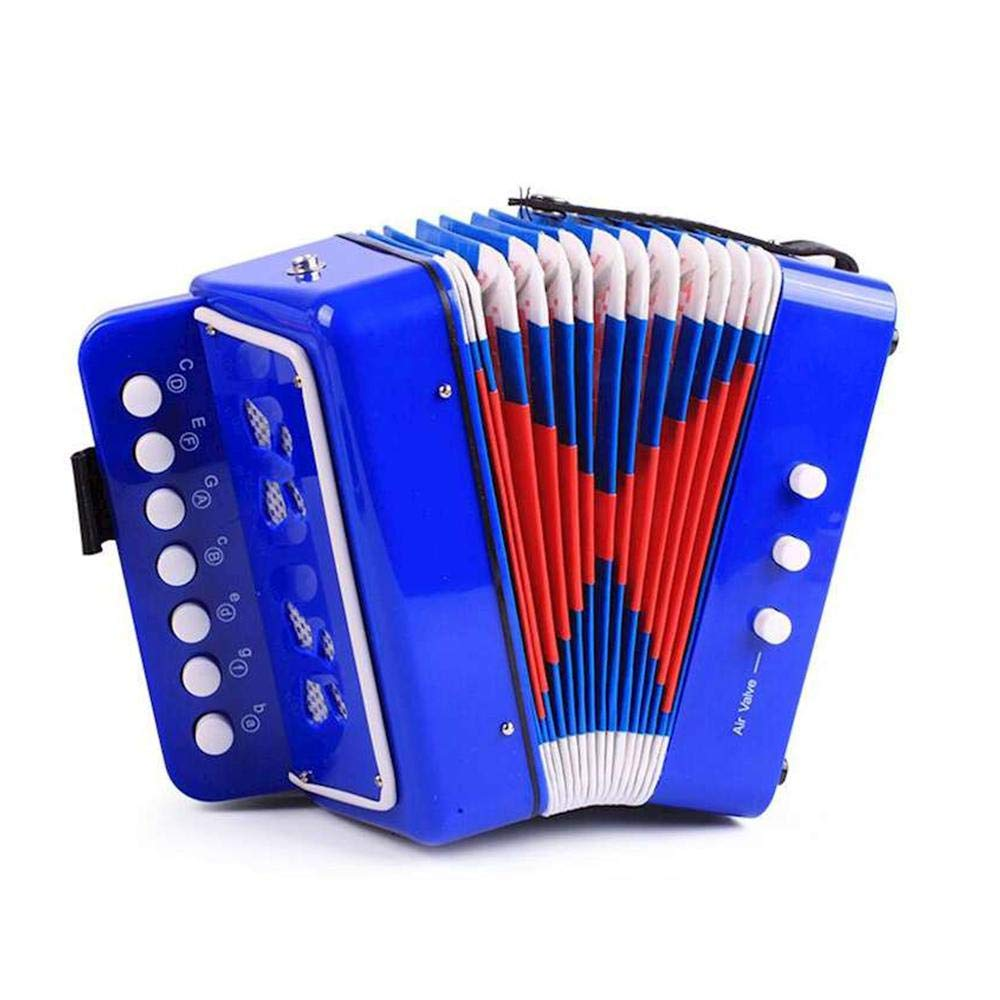 MOGOI Kids Accordion, Mini Musical Instrument for Early Childhood Teaching, Piano Percussion Accordion Musical Toy for Kids Children Toddlers,Blue