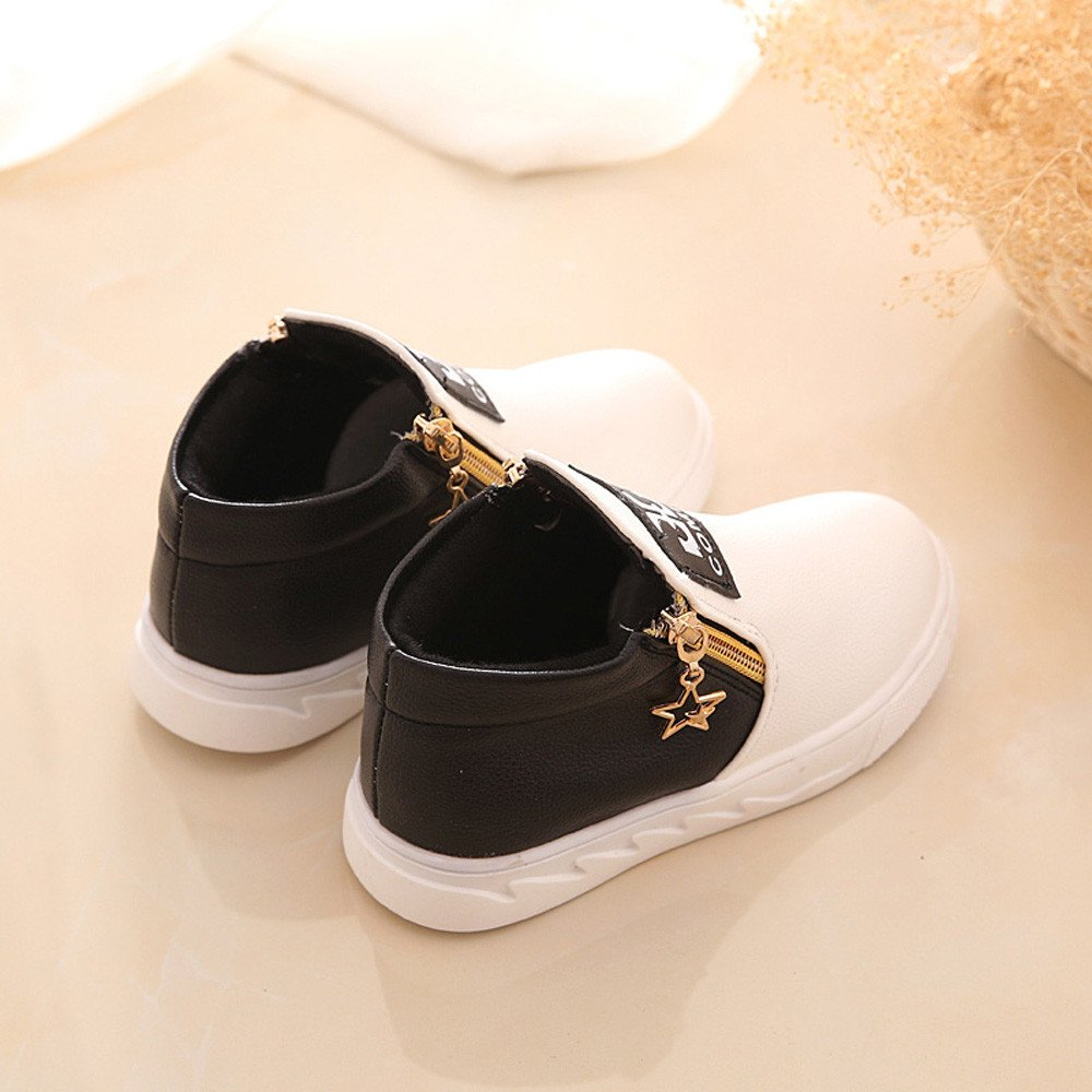 YanHoo Zapatos para niños Botas Infantiles Zapatos Escolares para niños Antideslizante Niños Casual Sport Boy Girls Moda Botas Zapatillas Otoño Zapatos ...