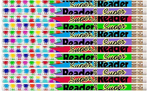 (D2339 Super Reader - 36 Qty Package - Reading Award Pencils - Express Pencils)